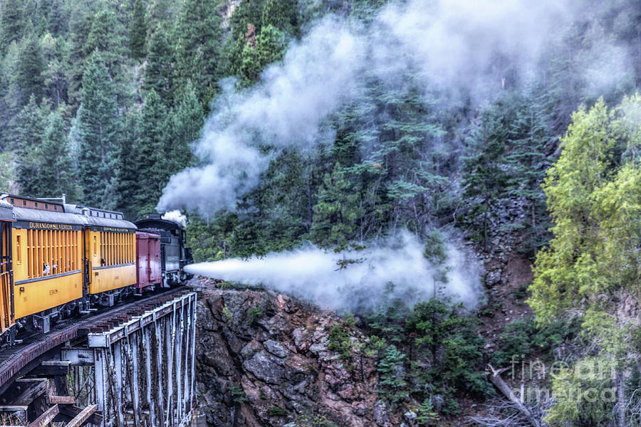 Steam Engine Blow Down Photograph