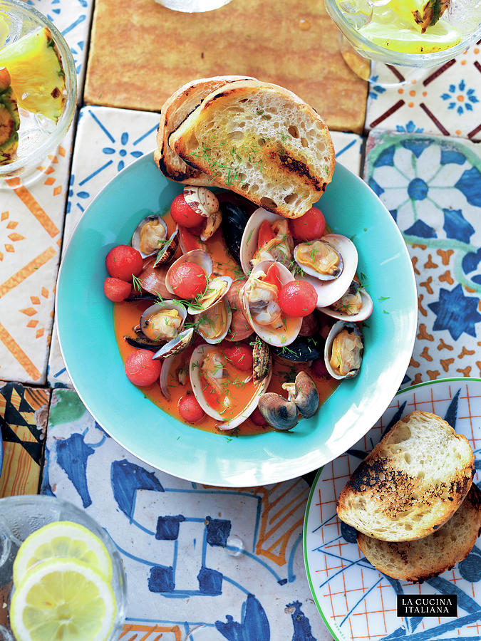 Steamed Clams and Mussels Photograph by Riccardo Lettieri