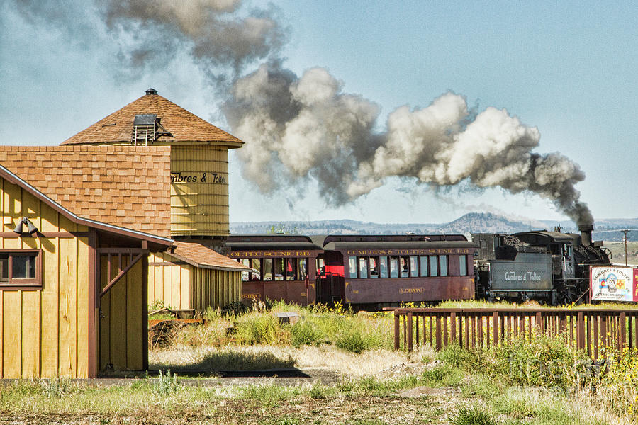 Train Photograph - Steaming Past by Marilyn Cornwell