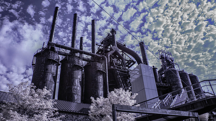 Steel Stacks Photograph - SteelStacks Blues by Jim Cook
