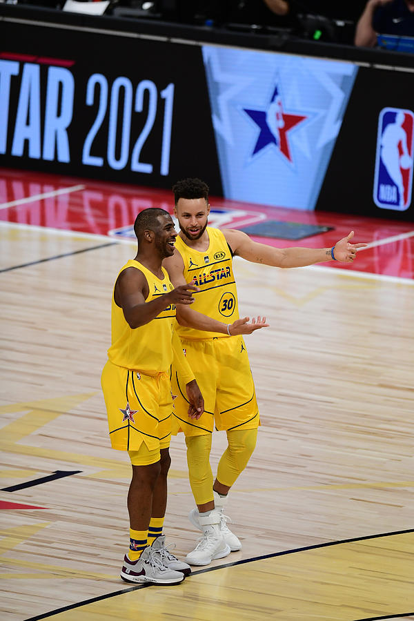 Stephen Curry and Chris Paul Photograph by Adam Hagy