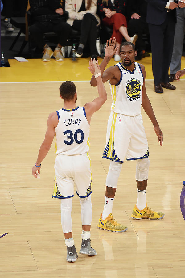 Stephen Curry and Kevin Durant Photograph by Adam Pantozzi