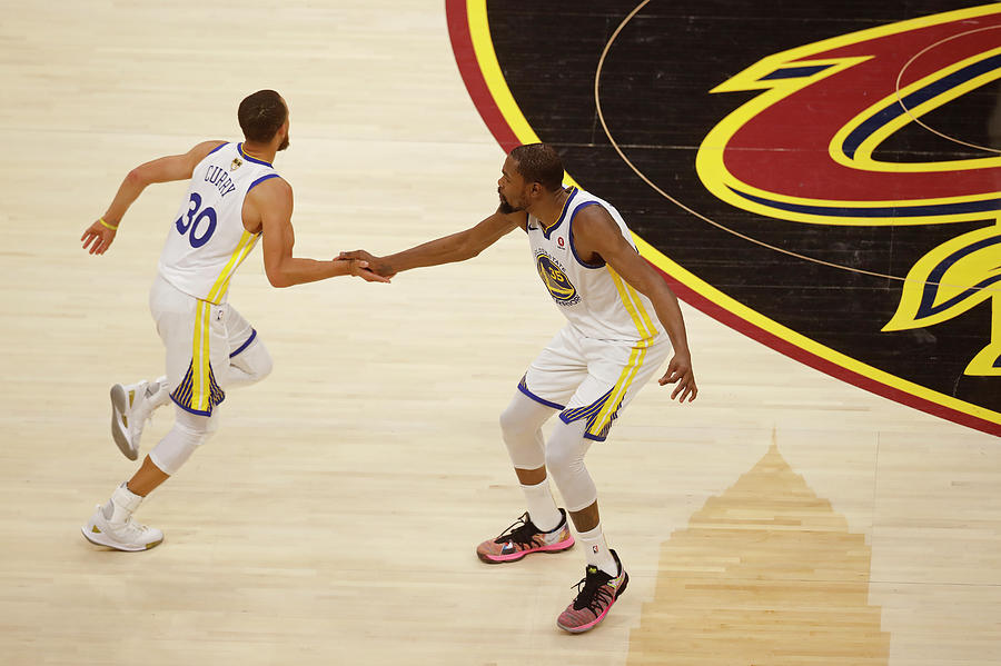 Stephen Curry and Kevin Durant Photograph by Mark Blinch