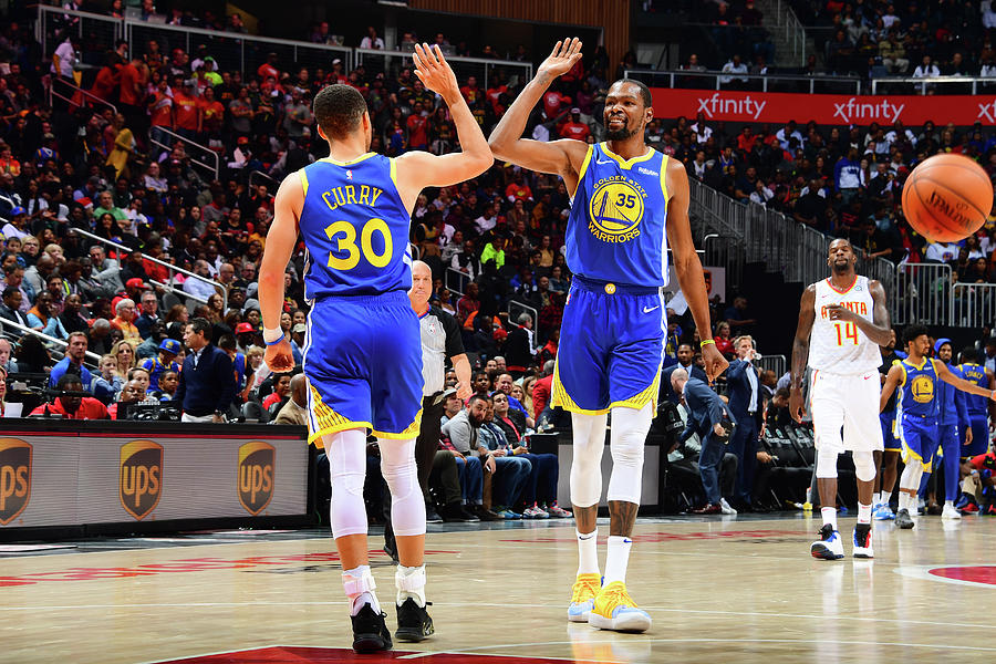 Stephen Curry and Kevin Durant Photograph by Scott Cunningham