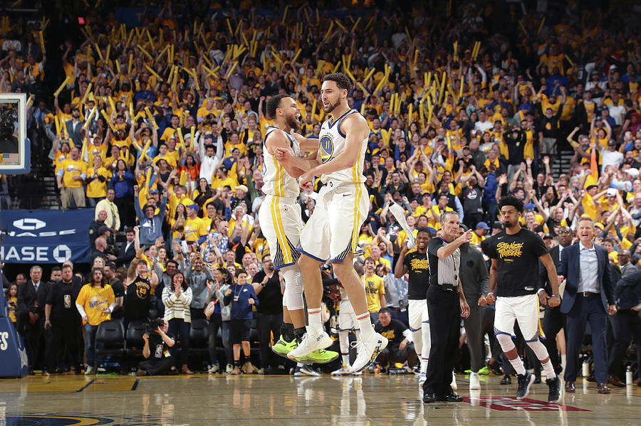 Stephen Curry and Klay Thompson Photograph by Joe Murphy