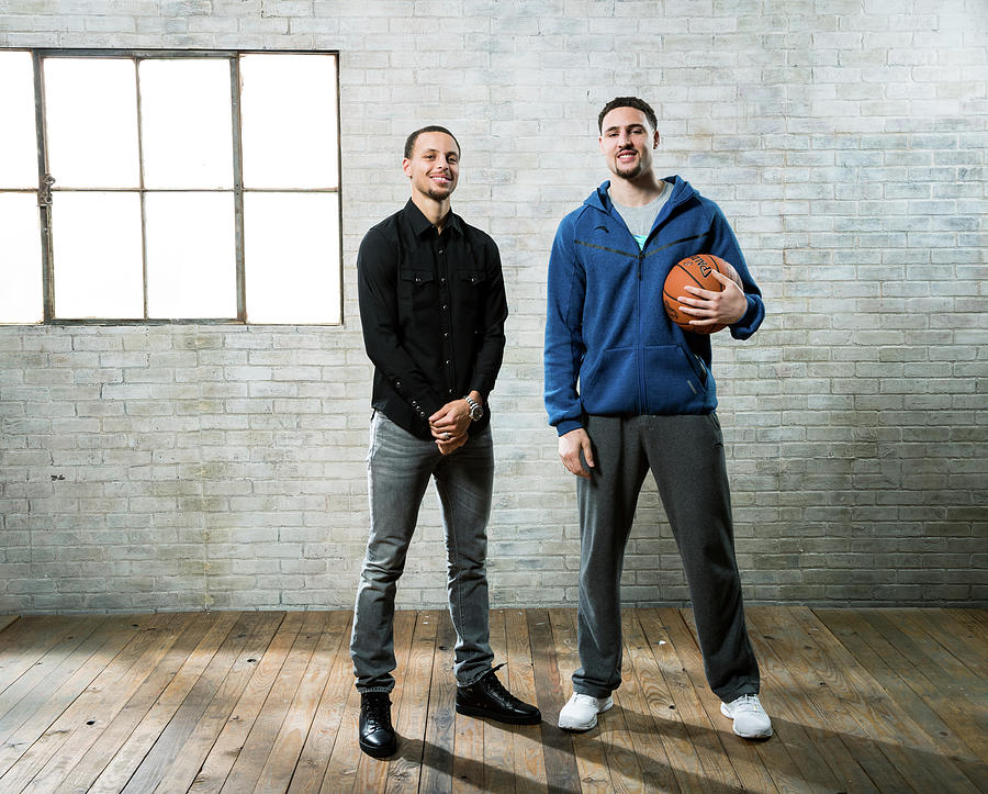 Stephen Curry and Klay Thompson Photograph by Nathaniel S. Butler