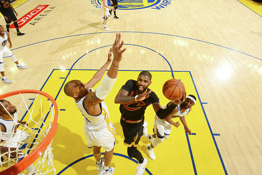 Stephen Curry and Kyrie Irving Photograph by Jesse D. Garrabrant