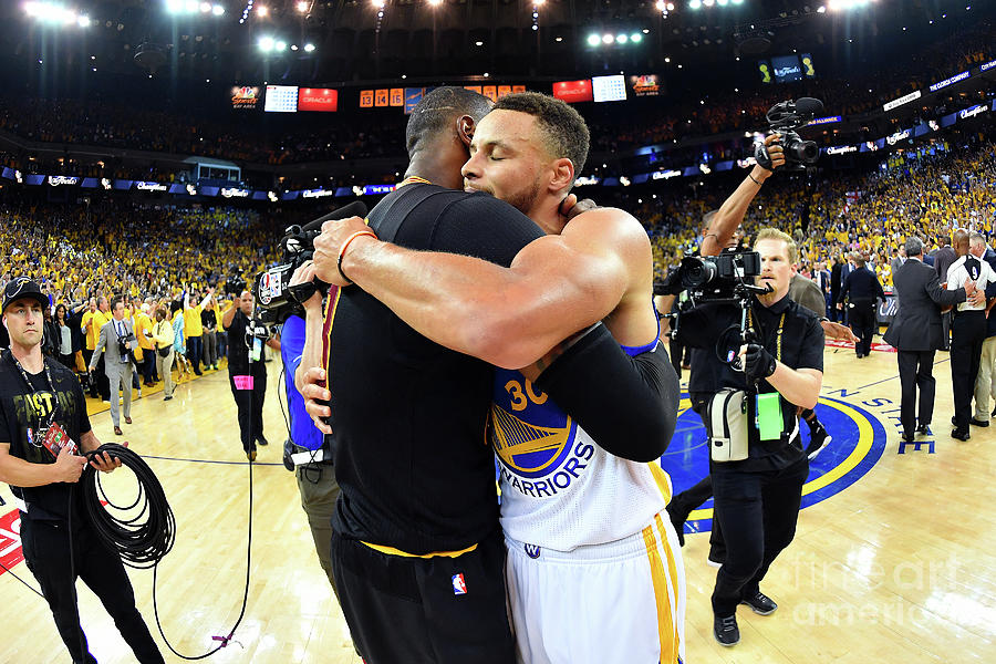 Stephen Curry and Lebron James Photograph by Jesse D. Garrabrant
