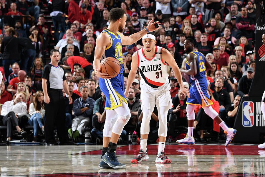 Stephen Curry and Seth Curry Photograph by Andrew D. Bernstein