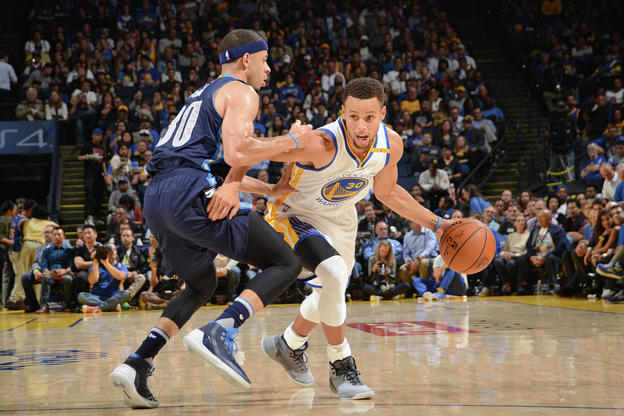 Stephen Curry and Seth Curry Photograph by Noah Graham