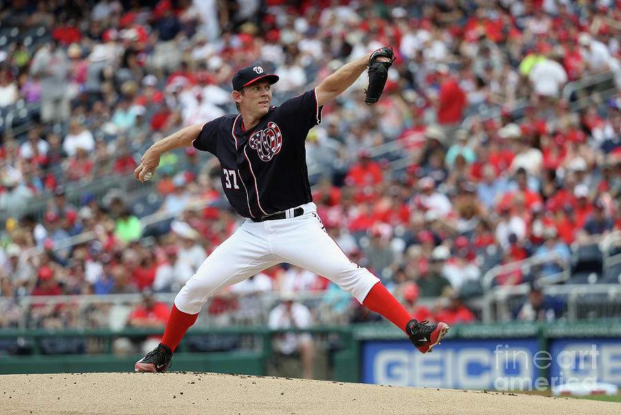 Stephen Strasburg Photograph by Rob Carr