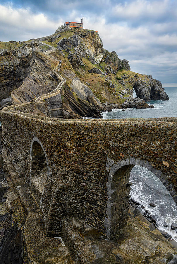 Spain Photograph - Steps To San Juan De Gaztelugatxe by Joan Carroll