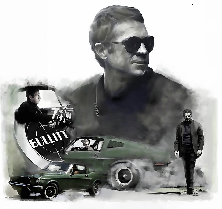 Steve McQueen Bullitt 50 by Iconic Images Art Gallery David Pucciarelli