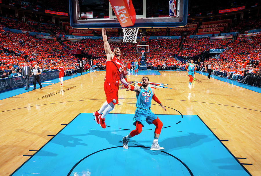 Steven Adams and Enes Kanter Photograph by Zach Beeker