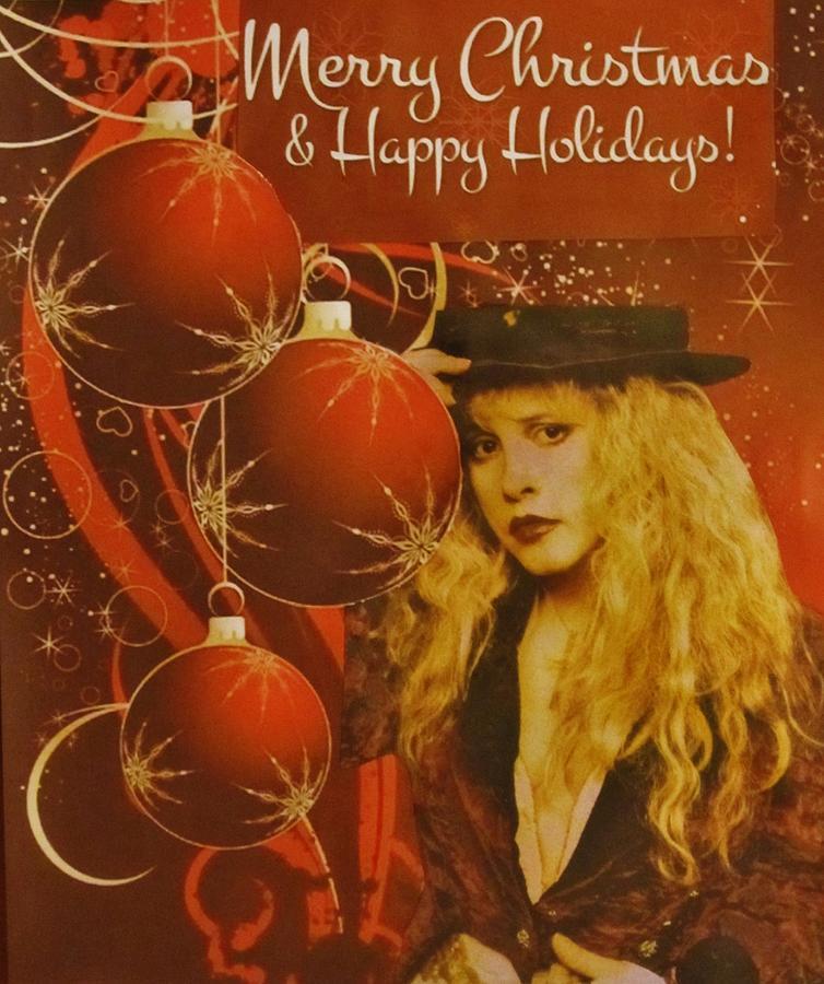 Stevie Nicks Photograph - Stevie Nicks Christmas by Donna Wilson