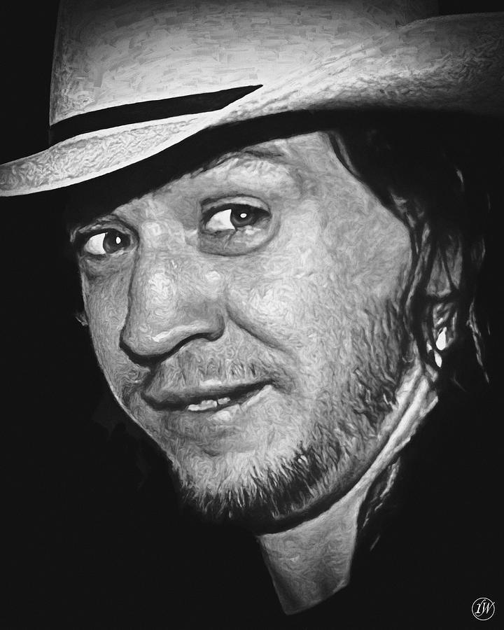 Stevie Ray Vaughan 2 - Closeup Series by Rick Wiles