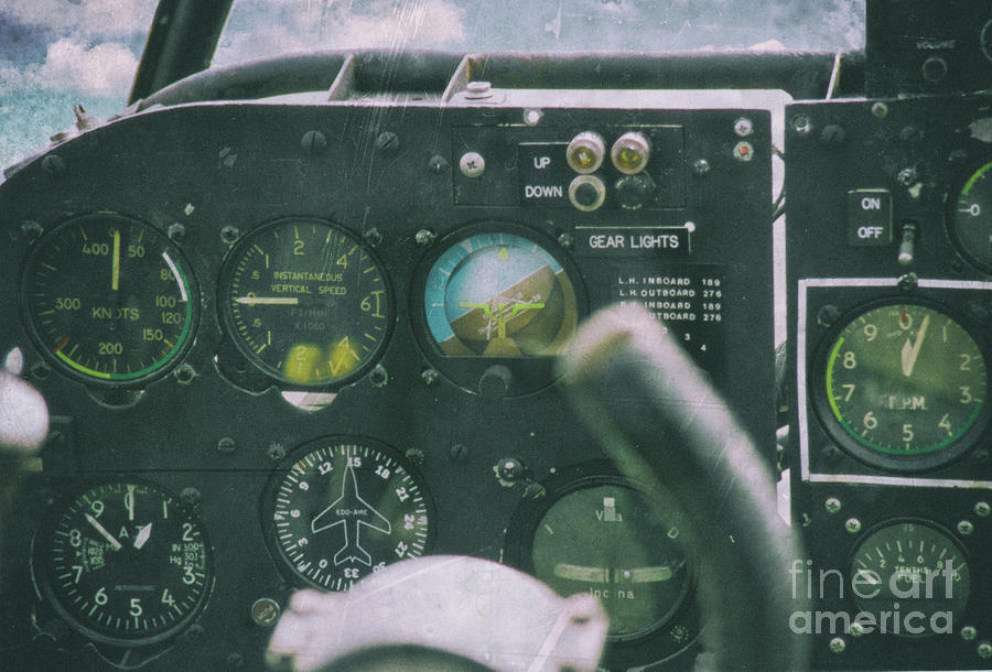 Cockpit Photograph - Stick and Rudder - Cockpit by Dale Powell
