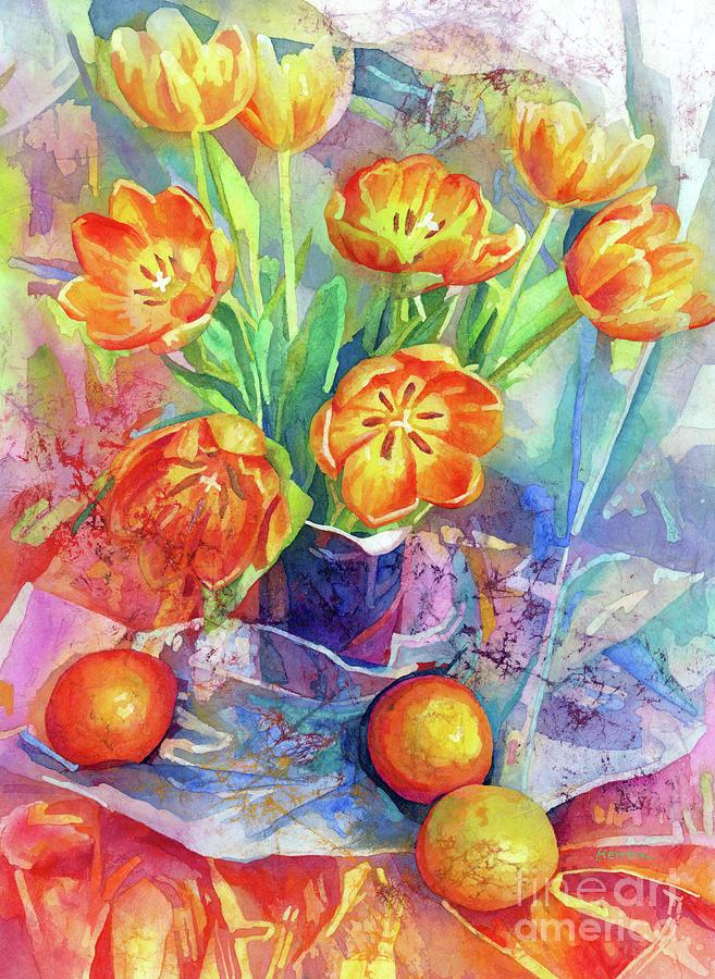 Still Life In Orange-pastel Colors Painting