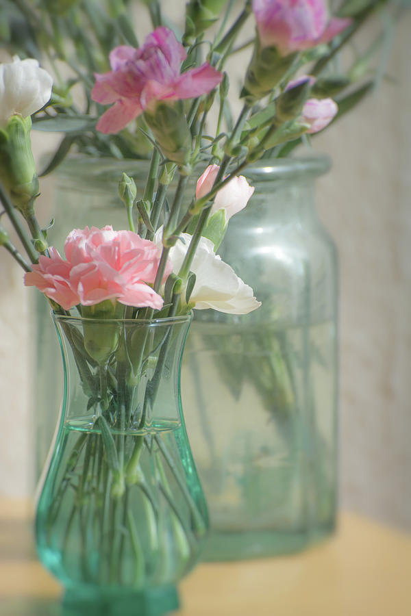 Flower Photograph - Still life with flowers by A J Paul