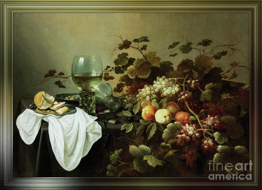 Still Life With Fruit And Roemer by Pieter Claesz by Xzendor7