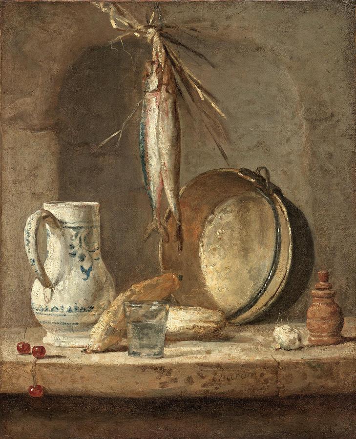 Still Life with Herrings by Jean-Simeon Chardin