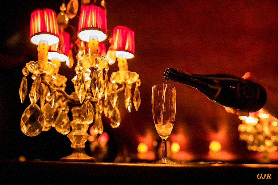 Still Life With Piano, Candelabra And Champagne - Liberace Style L A S Digital Art