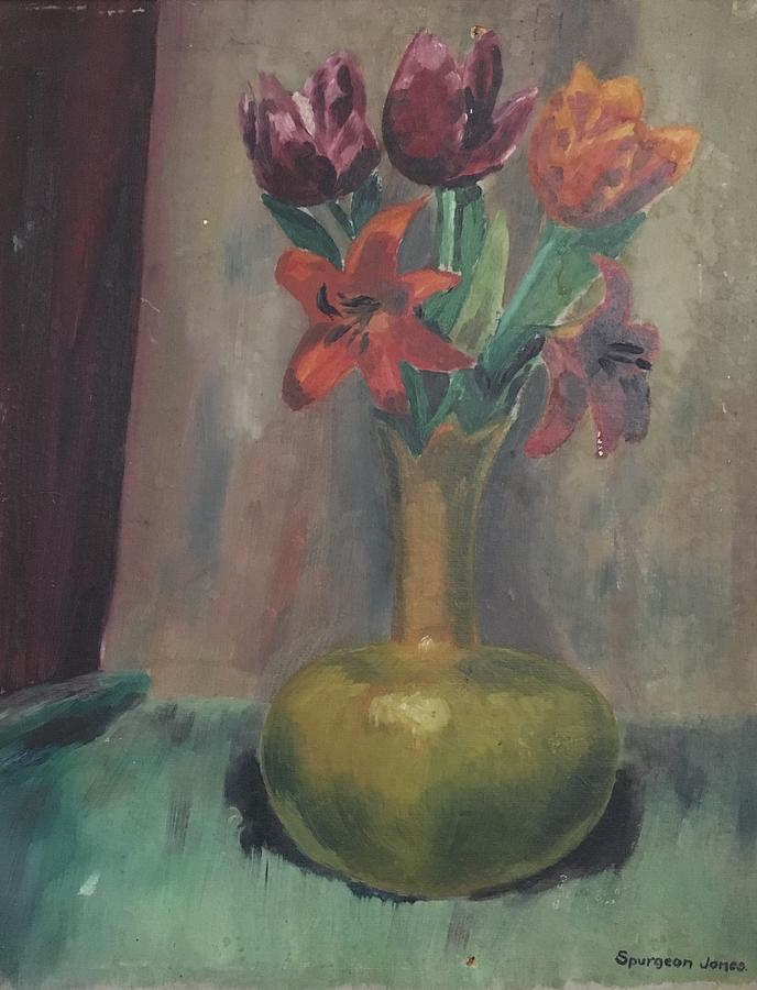 Still Life With Tulips Painting