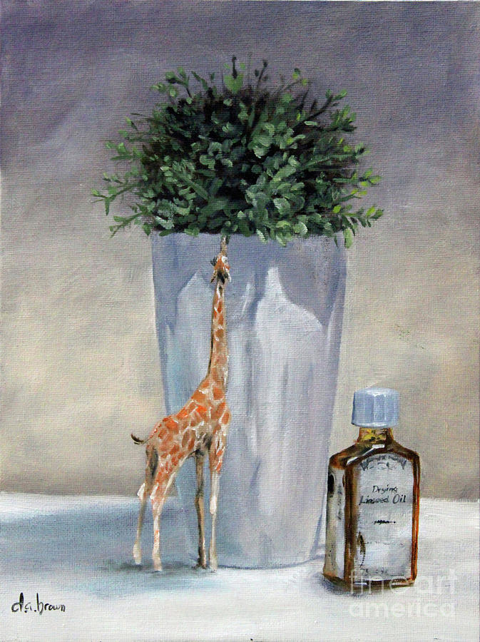 Still Life...with giraffe by D A Brown