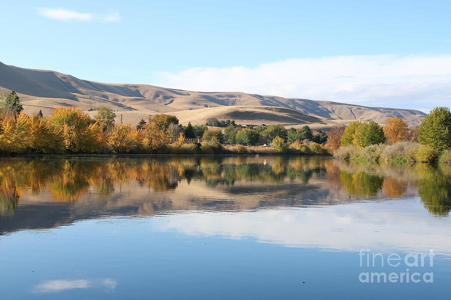 Still Yakima River in Autumn by Carol Groenen