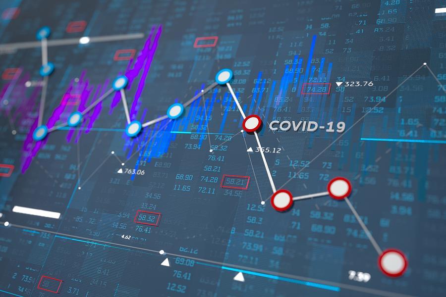 Stock exchange graph Photograph by Andriy Onufriyenko