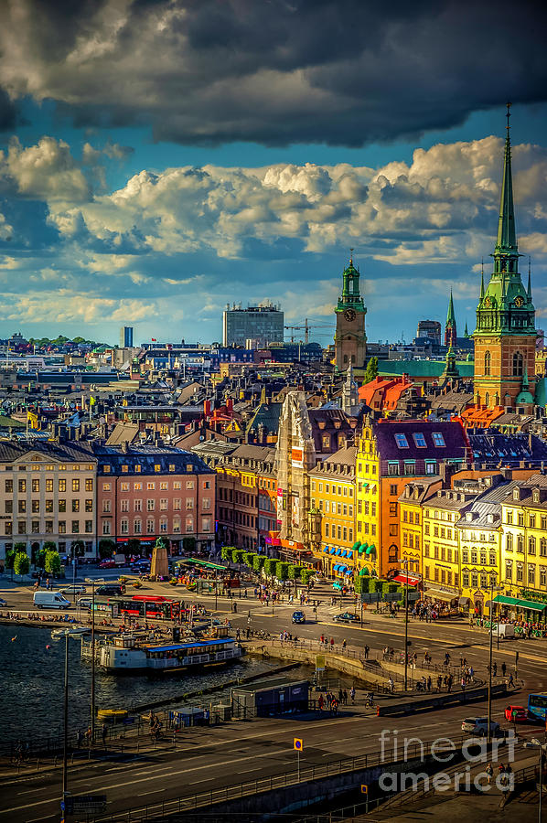 Cobblestone Photograph - Stockholm city 1 by Micah May