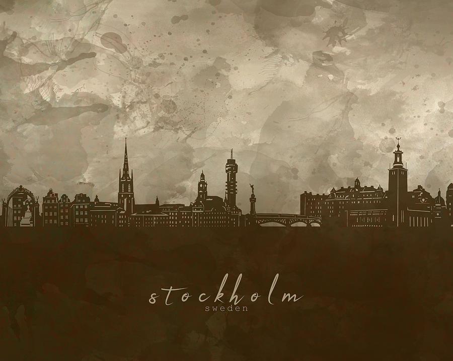 Stockholm Skyline Panorama 4 Digital Art