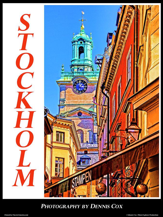 Stockholm Travel Poster Photograph