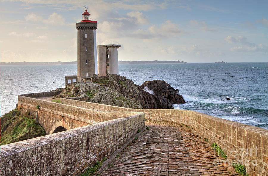 Lighthous In Brittany Photograph