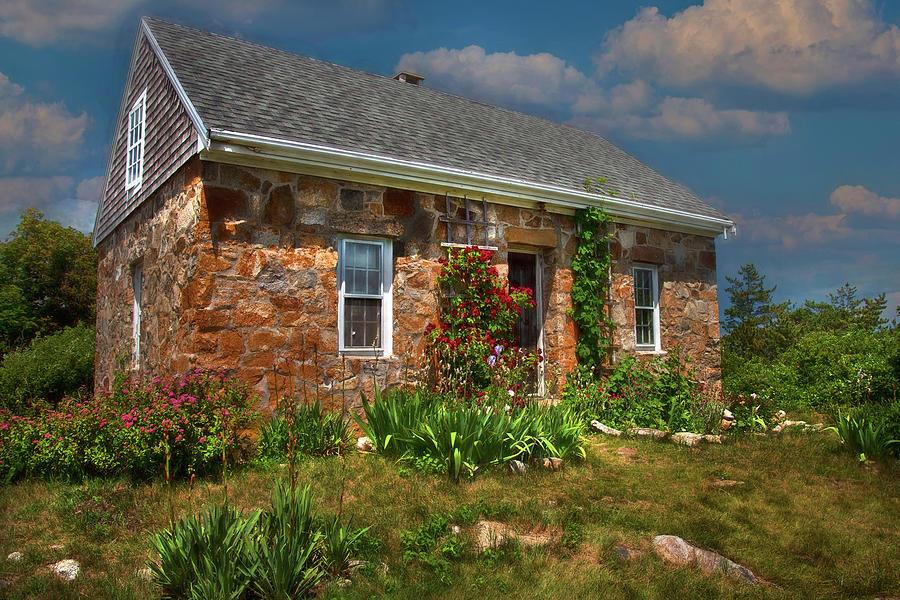 Stone Cottage - Star Island, Maine Photograph