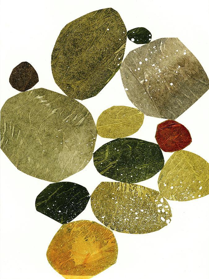 Pattern Mixed Media - Stone Stack #2 by Jane Davies
