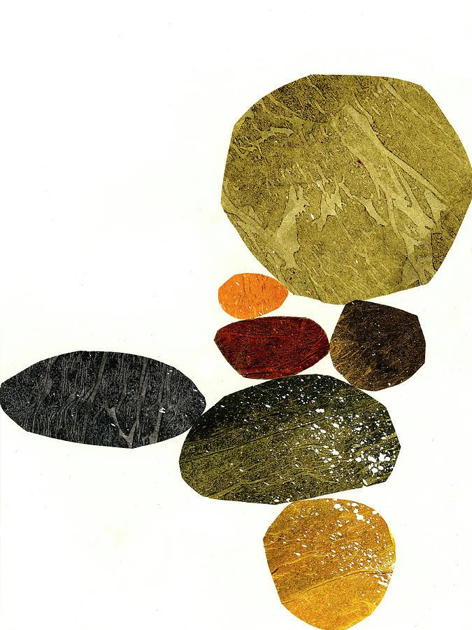 Pattern Mixed Media - Stone Stack #3 by Jane Davies