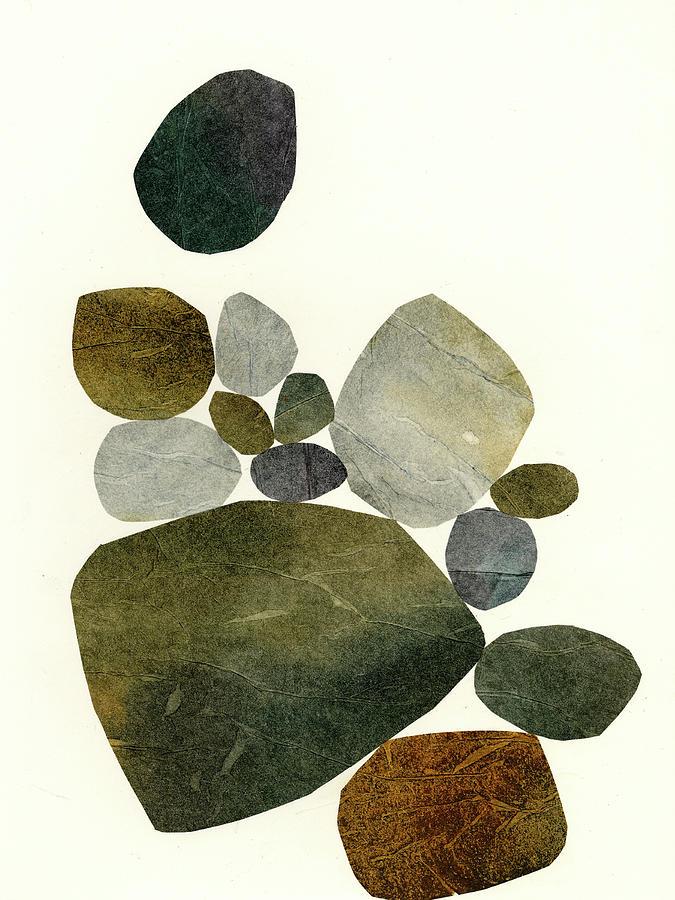 Pattern Mixed Media - Stone Stack #6 by Jane Davies