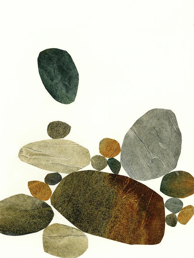 Pattern Mixed Media - Stone Stack #9 by Jane Davies