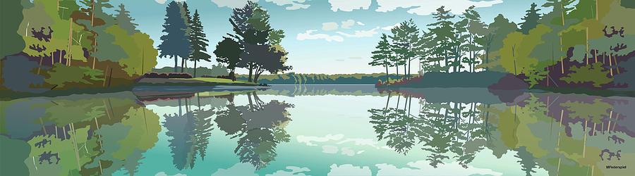 Lake Digital Art - Stonedam by Marian Federspiel