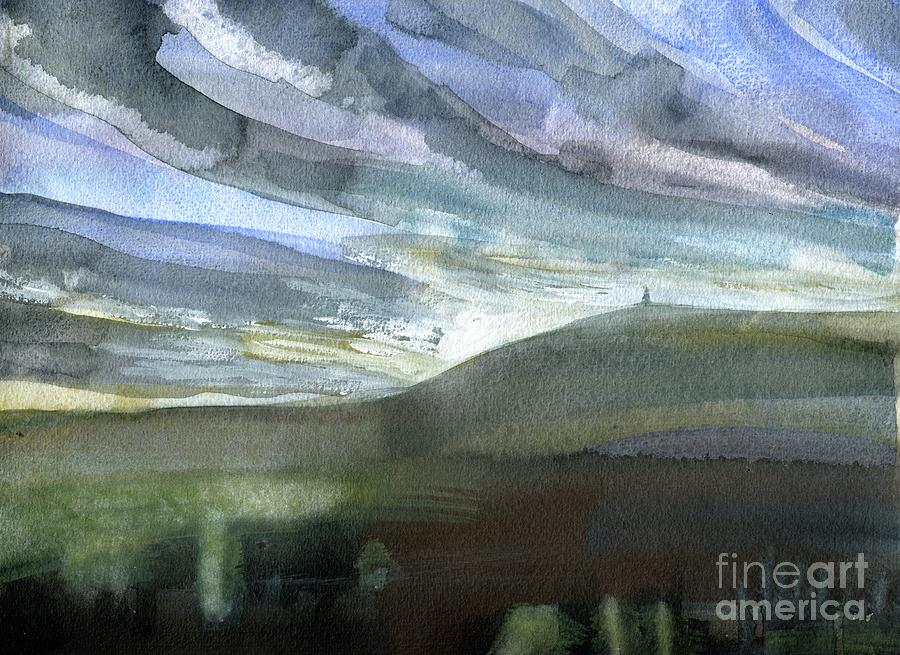 Yorkshire Painting - Stoodley Morning Sky  by Elizabetha Fox