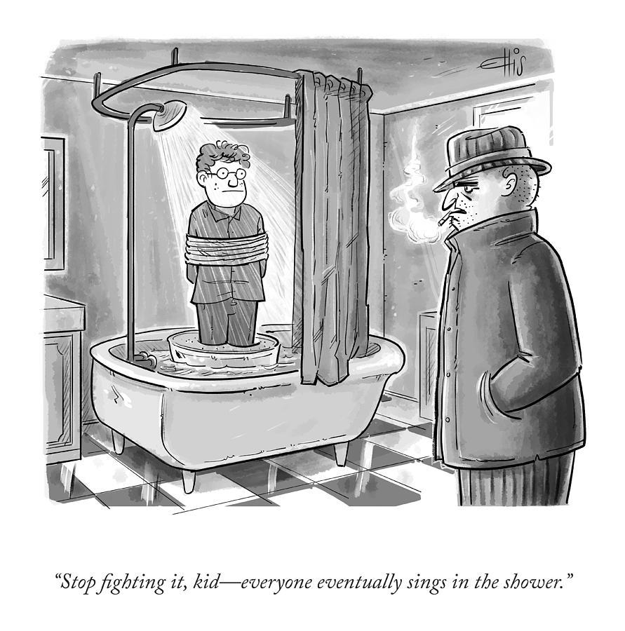 Stop Fighting It, KId Drawing by Ellis Rosen