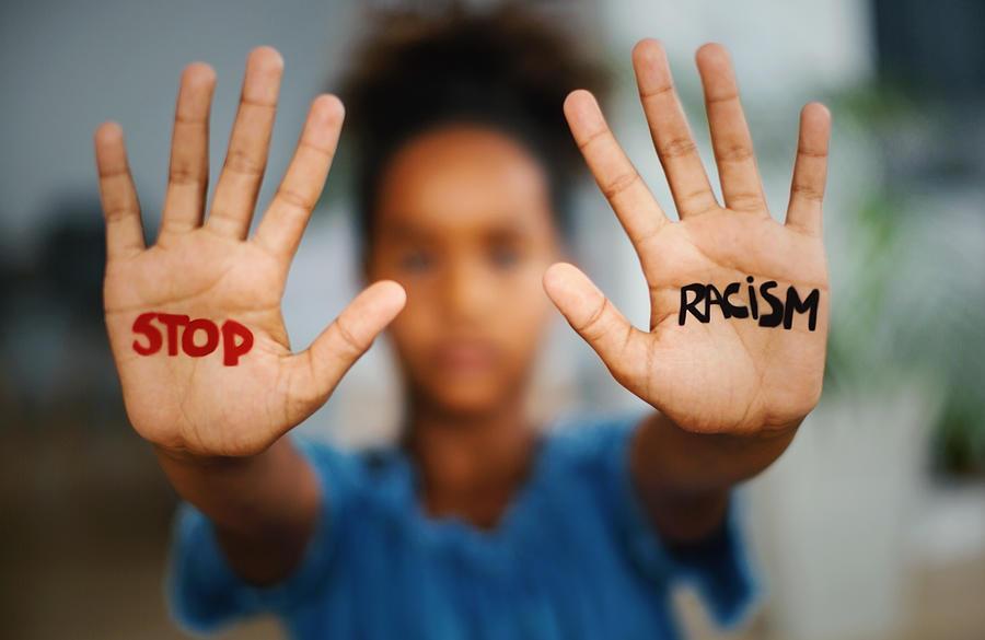 Stop racism. Photograph by Aja Koska