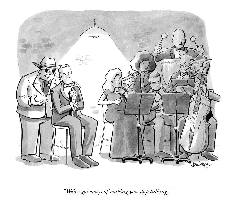 Stop Talking Drawing by Benjamin Schwartz