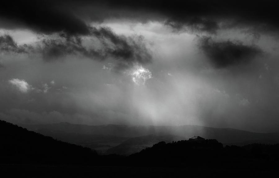 Storm Clouds Over Schloss Arnstein Photograph