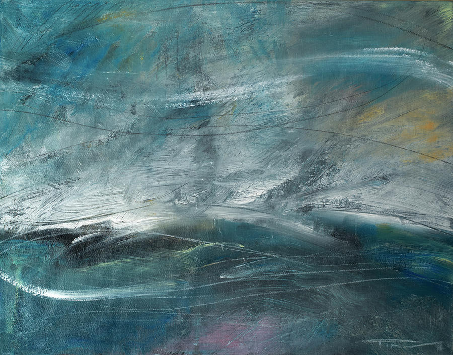 Storm On The Bay Painting