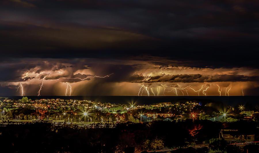 Australia Photograph - Stormy Evening by Chris Cousins