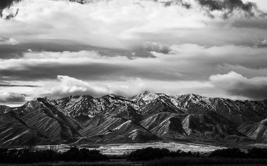 Stormy Mountains in Black and White  by Kevin Schwalbe