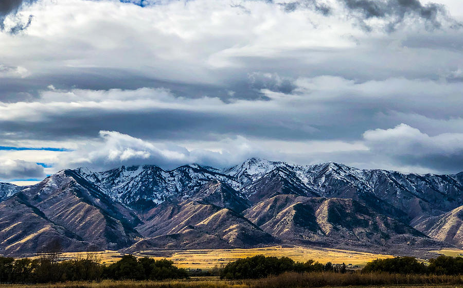 Stormy Mountains  by Kevin Schwalbe