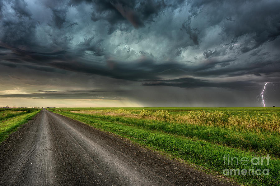 Canada Photograph - Stormy Road by Ian McGregor